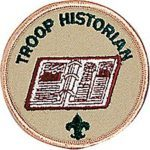 troop historian badge